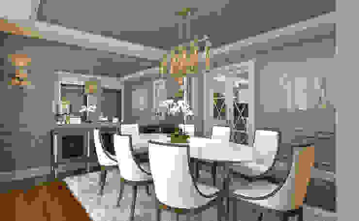 Dining Room / Hayat Villas Modern dining room by Sia Moore Archıtecture Interıor Desıgn Modern Solid Wood Multicolored