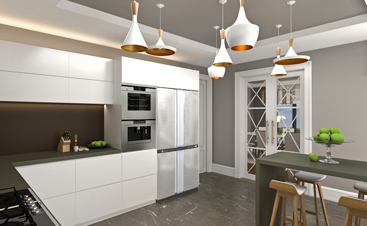 Kitchen / Hayat Villas by Sia Moore Archıtecture Interıor Desıgn Modern Solid Wood Multicolored