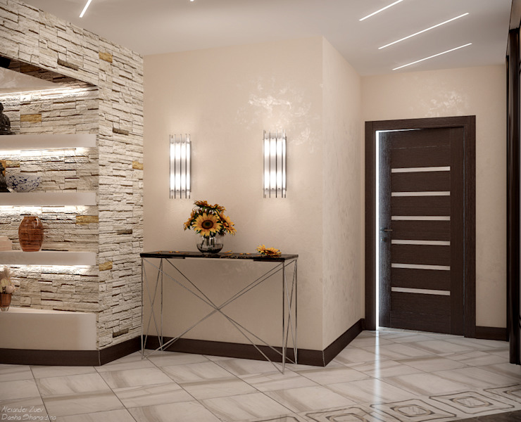 Modern Corridor, Hallway and Staircase by Студия интерьерного дизайна happy.design Modern
