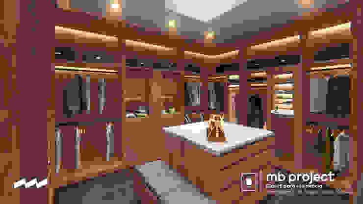 """Vista 4 Walking Closet """"MB"""" (Anteproyecto) Vestidores modernos de Well Arquitectura Moderno Madera Acabado en madera"""