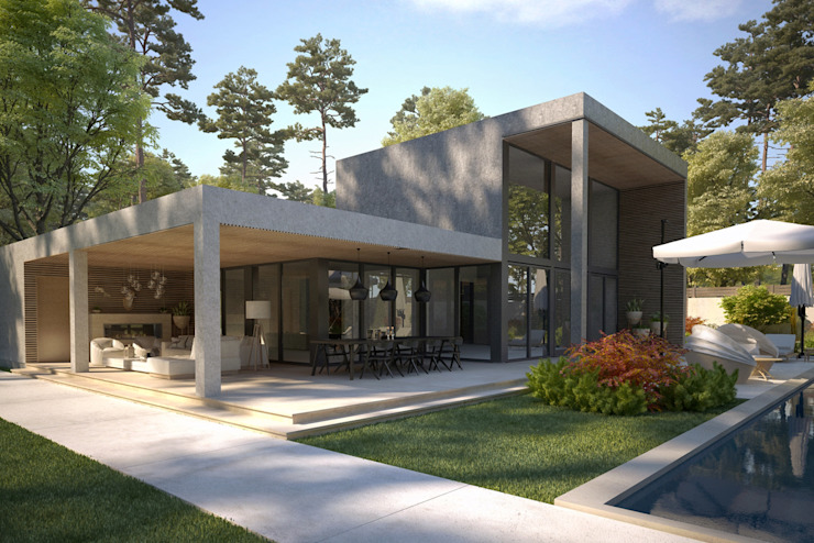 Dinlenme Alanı / Kaş Villa Sia Moore Archıtecture Interıor Desıgn Modern Beton