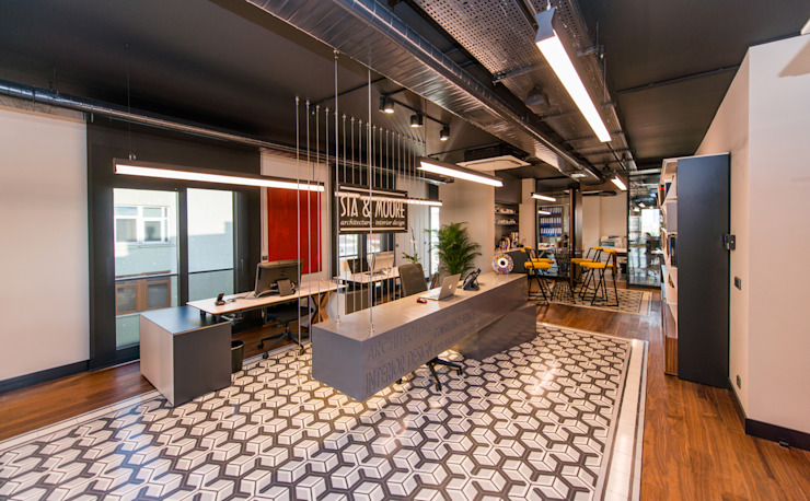 Karşılama Bankosu / Sia Moore Merkez Ofis Sia Moore Archıtecture Interıor Desıgn Endüstriyel Seramik