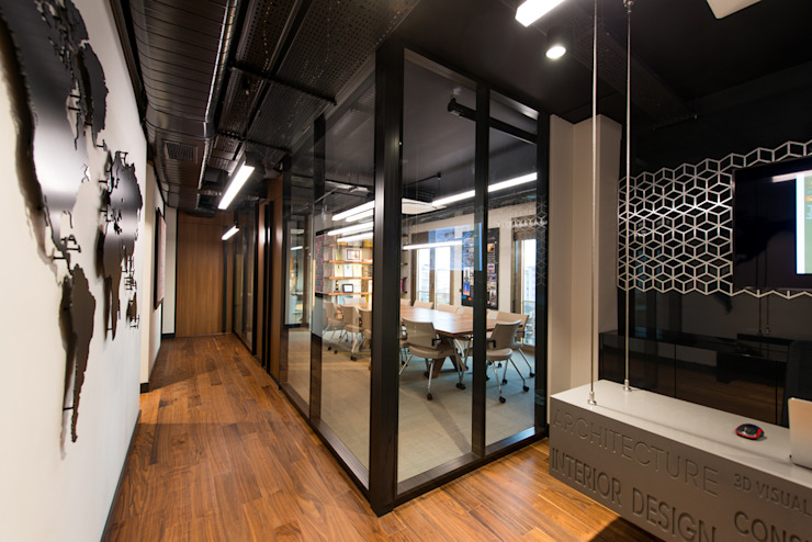 Koridor / Sia Moore Merkez Ofis Sia Moore Archıtecture Interıor Desıgn Endüstriyel Cam