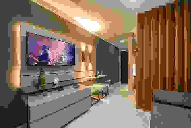Sala reversível e hall de entrada :   por Espaço Arquitetural | Arquitetos em Natal,Moderno MDF
