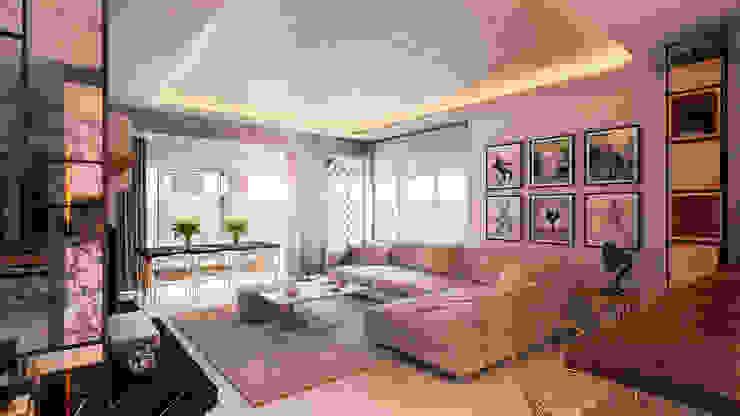Beta İç Mimarlık – K1 Evi:  tarz Oturma Odası,