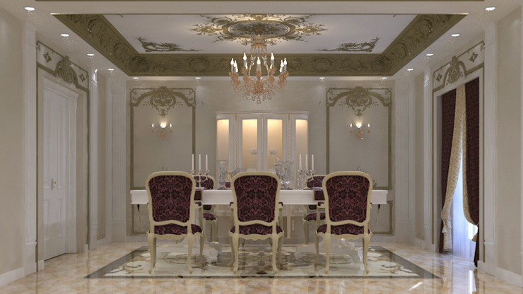 lifestyle_interiordesign Classic style dining room Beige