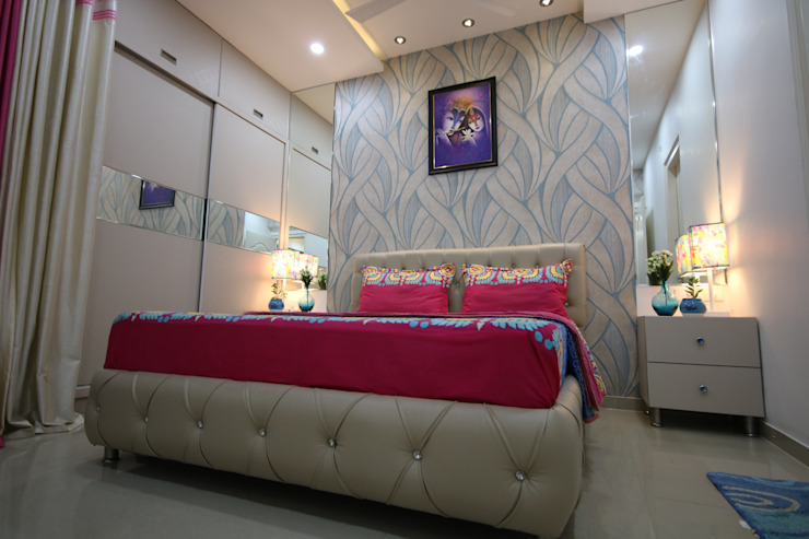 Queen Size cot - Fully white light by Enrich Interiors & Decors Asian