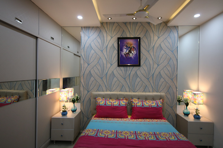 Masterbedroom - Fully White Light Asian style bedroom by Enrich Interiors & Decors Asian