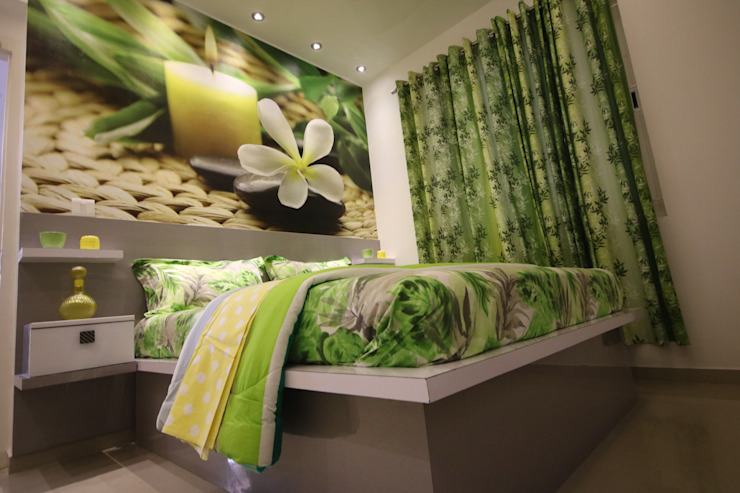 Guest Bedroom - Warm Light - Tropical Theme Asian style bedroom by Enrich Interiors & Decors Asian