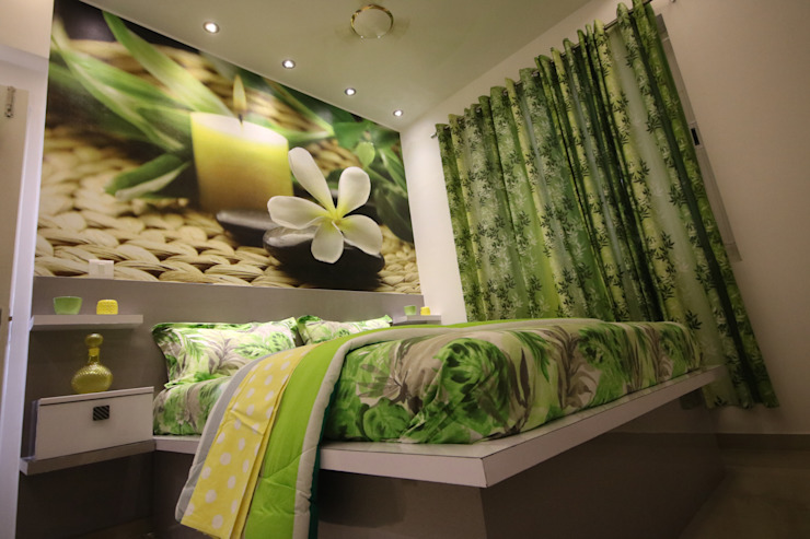 Guest Bedroom - Warm Light - Tropical Theme by Enrich Interiors & Decors Asian