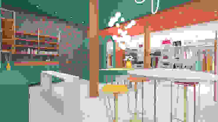 Concept Store serenascaioli_progettidinterni Negozi & Locali commerciali moderni Turchese
