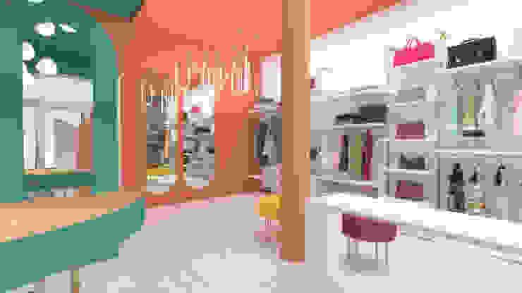 Esposizione abbigliamento e prova serenascaioli_progettidinterni Negozi & Locali commerciali moderni Rosso