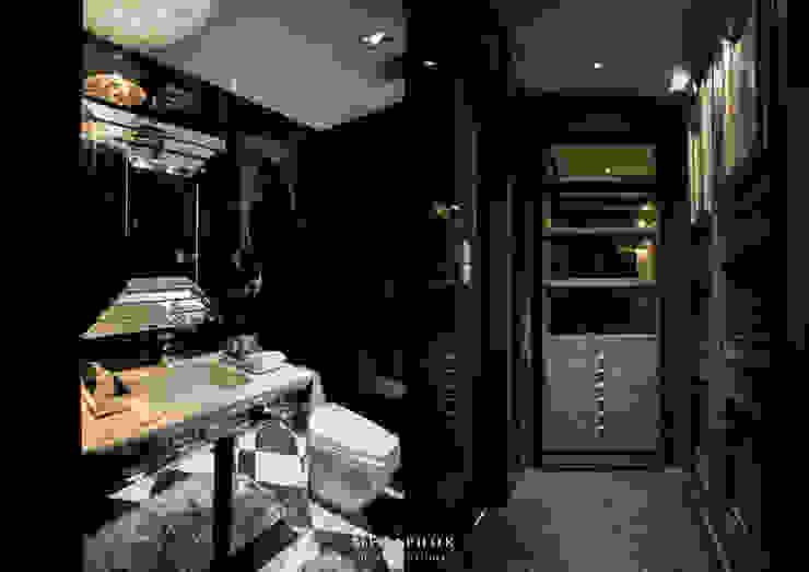 The Dark Night Metaphor Design Studio ห้องน้ำ ไม้ Black