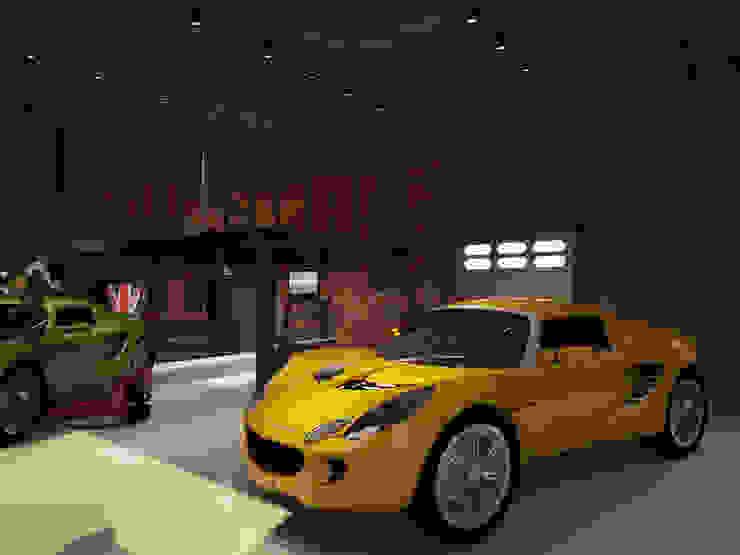 쇼룸 인테리어- 로터스코리아 3D: 그리다아이디의 인더스트리얼 ,인더스트리얼