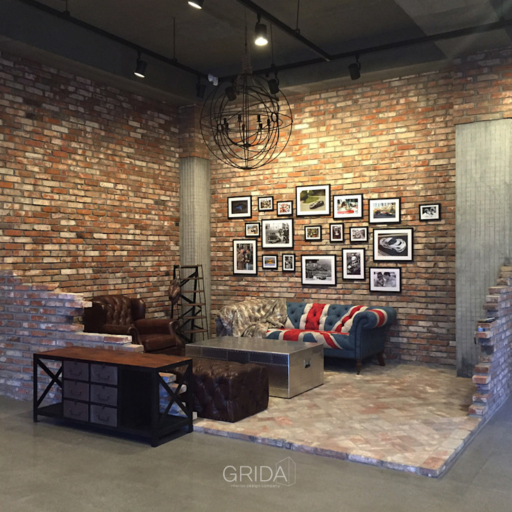 쇼룸 인테리어- 로터스코리아: 그리다아이디의  거실