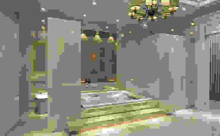 Master Bathroom - 2 / Majidi Palace Eclectic style bathroom by Sia Moore Archıtecture Interıor Desıgn Eclectic Marble