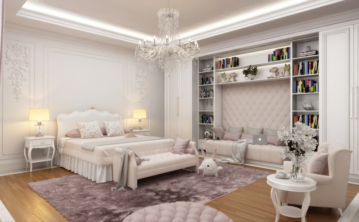 Girl Bedroom - 2 / Majidi Palace by Sia Moore Archıtecture Interıor Desıgn Eclectic Solid Wood Multicolored