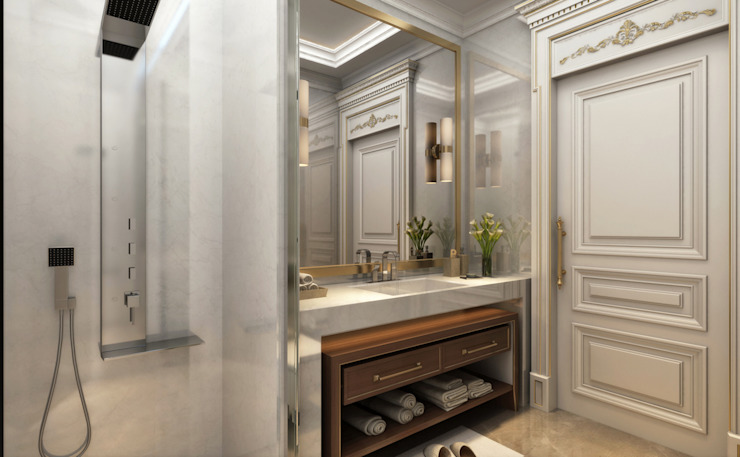 Bathroom / Majidi Palace Eclectic style bathroom by Sia Moore Archıtecture Interıor Desıgn Eclectic Marble