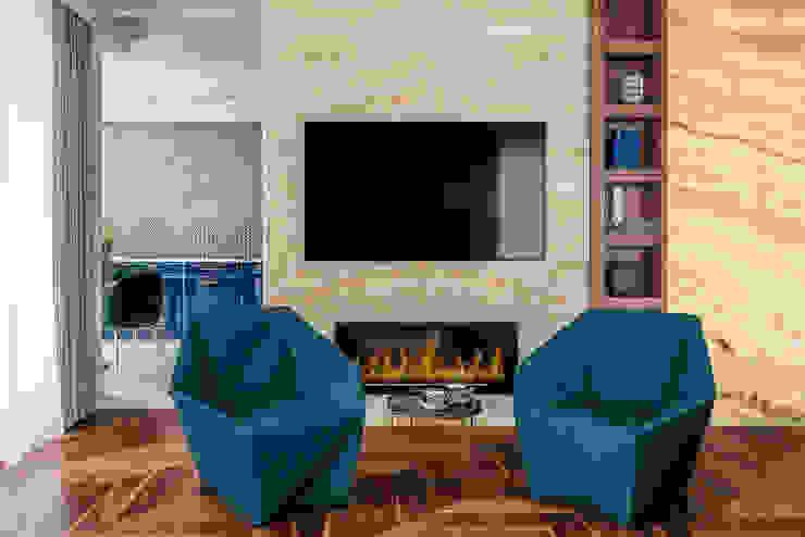 现代客厅設計點子、靈感 & 圖片 根據 SAFRANOW 現代風