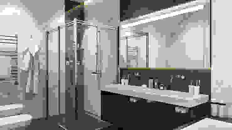 Квартира в ЖК «Маршал» Ванная комната в скандинавском стиле от 'INTSTYLE' Скандинавский