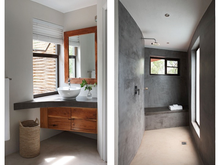 Bathrooms by Metaphor Design Rustic Concrete