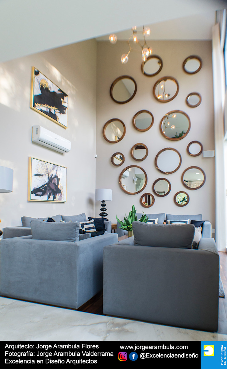 Casa Lagos 94 Excelencia en Diseño Salones modernos Blanco