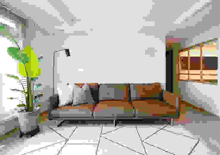 Living room 3 | 수원 영통 아이파크 캐슬 34py 새아파트 홈스타일링 모던 스타일 쇼핑 센터 by 홈리에종 모던
