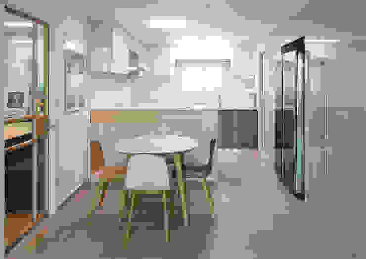 Dining room 1 | 수원 영통 아이파크 캐슬 34py 새아파트 홈스타일링 모던 스타일 쇼핑 센터 by 홈리에종 모던