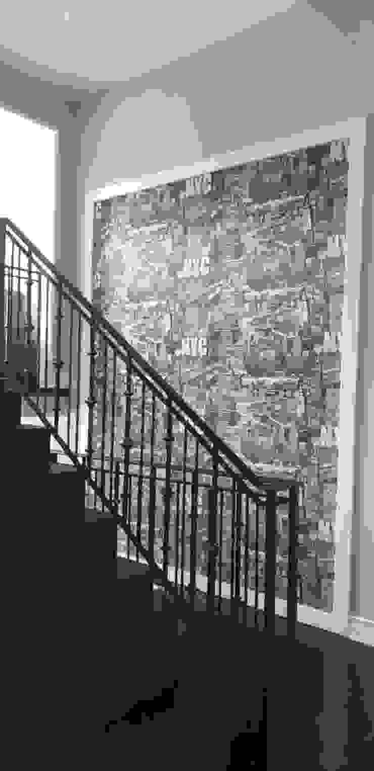 Ban Nantawan UpMedio Design Modern corridor, hallway & stairs