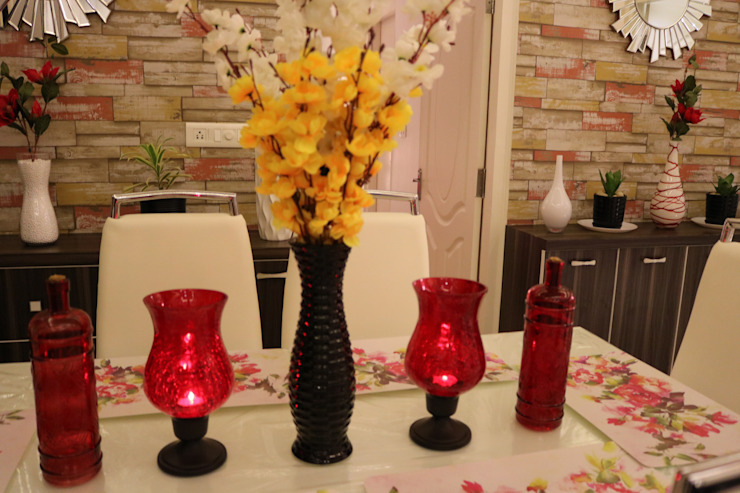 Dining Room Decor Asian style dining room by Enrich Interiors & Decors Asian