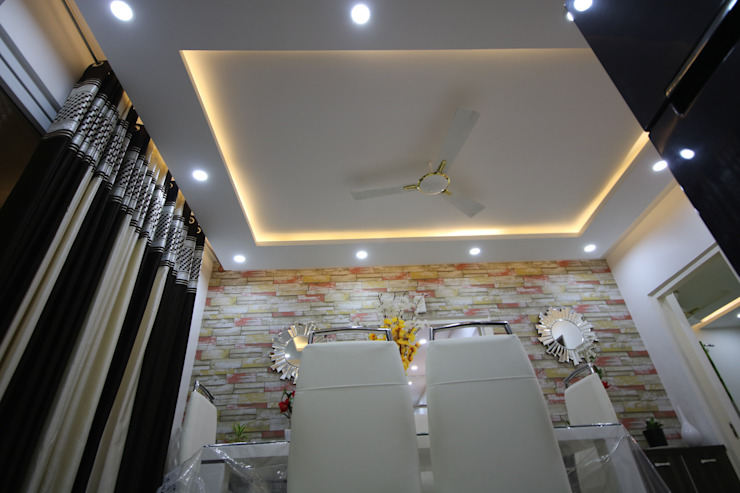 Dining - Ceiling view Asian style dining room by Enrich Interiors & Decors Asian