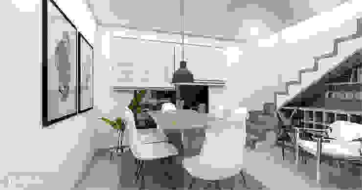CODIAN CONSTRUCTORA Scandinavian style dining room White