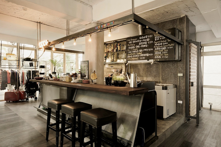 SY Lam Industrial style kitchen
