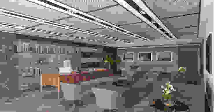 Minimalismo Design – Yönetici Ofisi-1:  tarz Çalışma Odası,