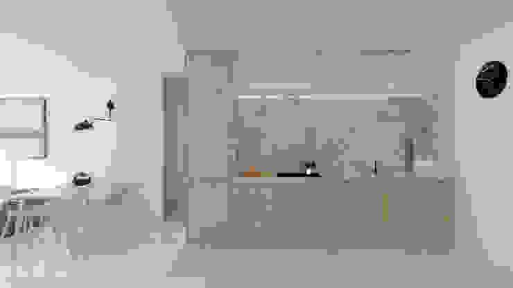 POA Estudio Arquitectura y Reformas en Córdoba Small kitchens Дерево Дерев'яні
