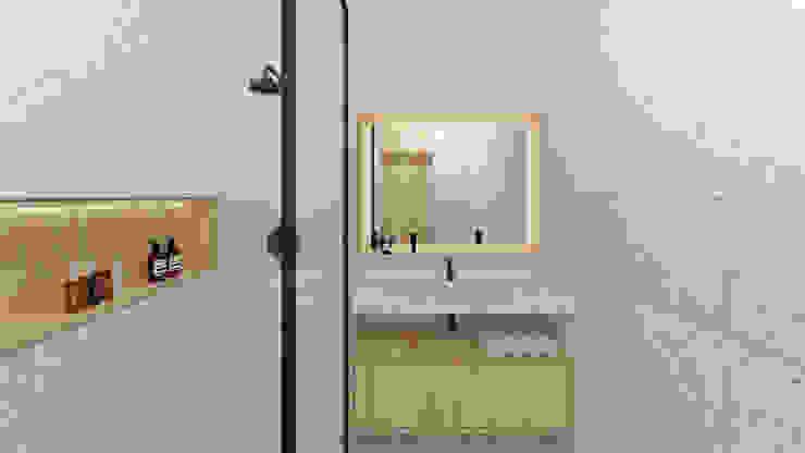 Reforma integral minimalista de baño Baños de estilo minimalista de POA Estudio Arquitectura y Reformas en Córdoba Minimalista Piedra