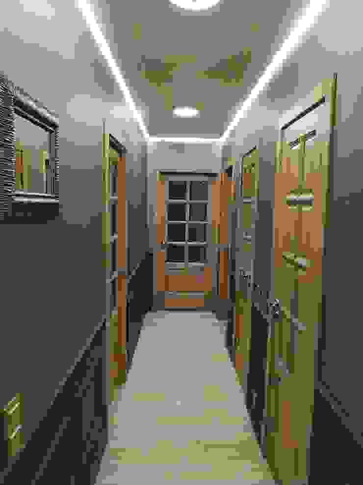 ทางเดินสไตล์คลาสสิกห้องโถงและบันได โดย ИП Жамойтины Светлана и Роланд คลาสสิค ไม้ Wood effect