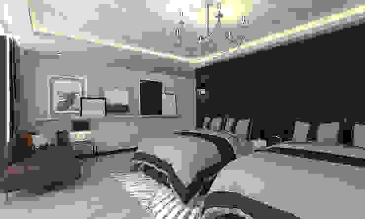 PENTHOUSE TEACAMACHALCO Modern Bedroom by Grupo AICONS Modern