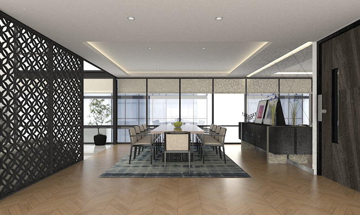 PENTHOUSE TECAMACHALCO Modern Dining Room by Grupo AICONS Modern