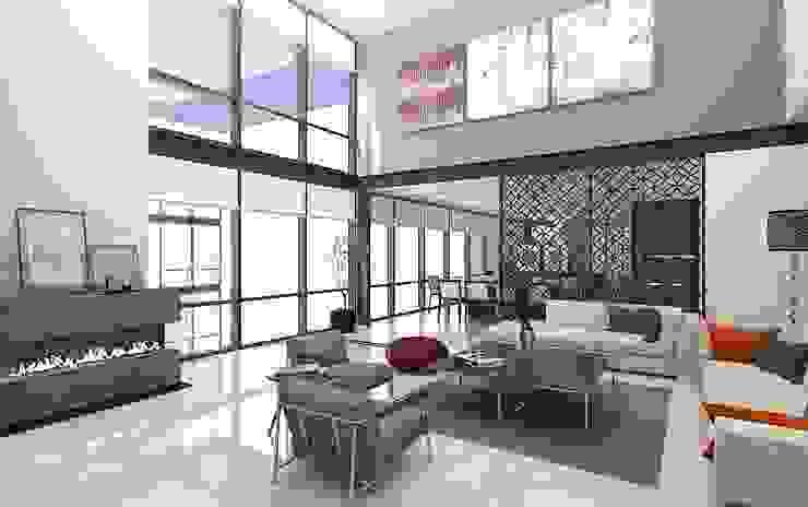 PENTHOUSE TECAMACHALCO Modern Living Room by Grupo AICONS Modern