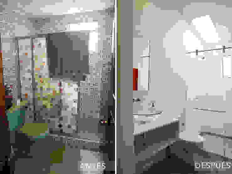 Antes y después Baño de CHAVARRO ARQUITECTURA Minimalista