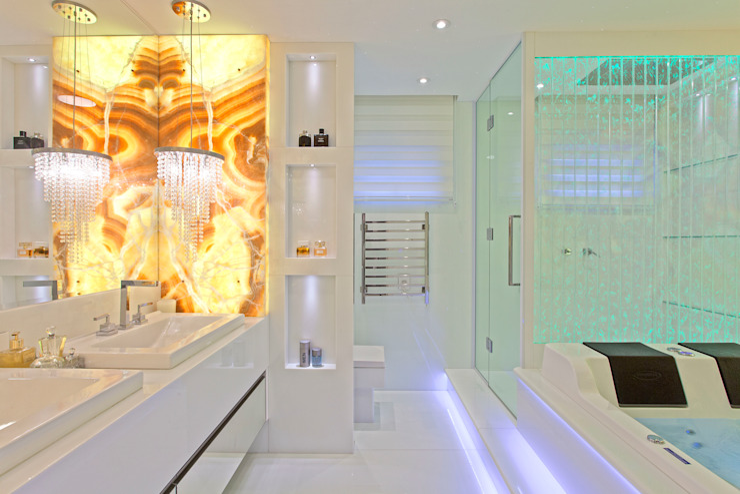 Apartamento Golden Designer de Interiores e Paisagista Iara Kílaris Banheiros modernos
