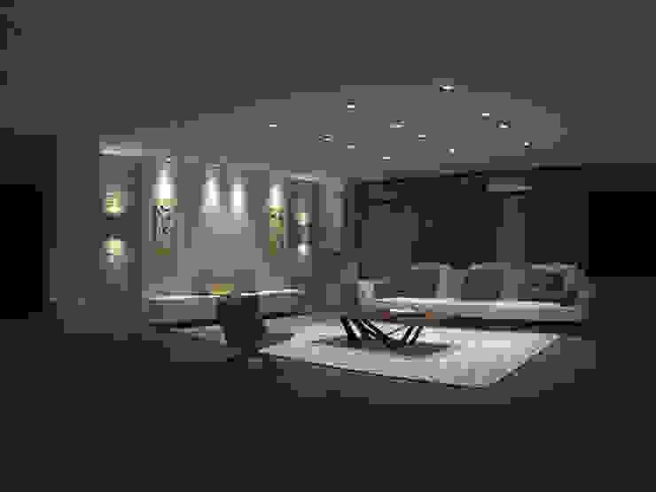Diseño Interior, apto Katay. Salas modernas de ARQUINEX SAS Moderno Madera Acabado en madera