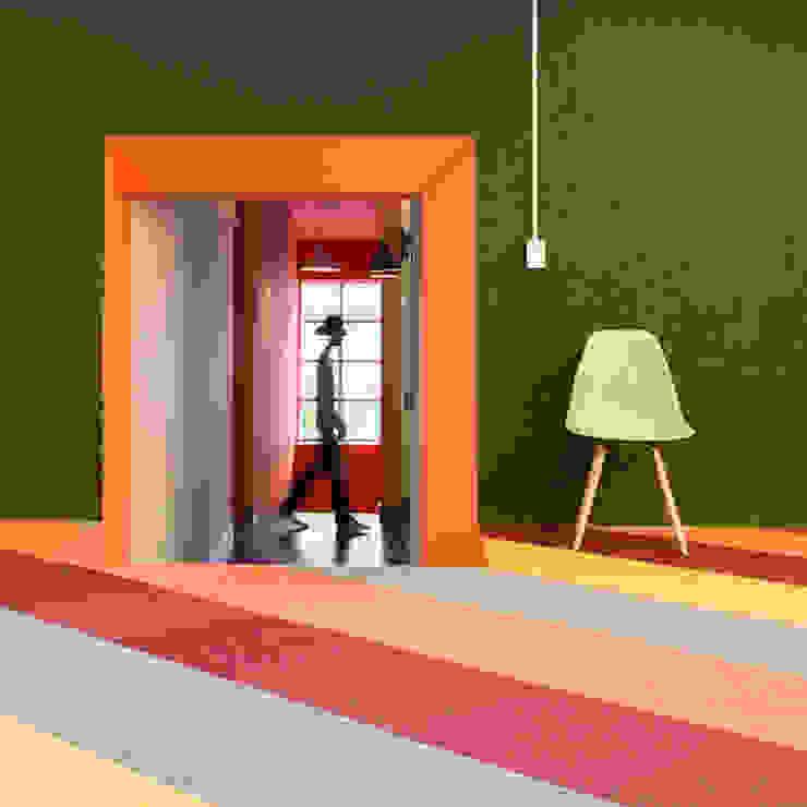 ARB transición Pasillos, vestíbulos y escaleras de estilo moderno de entrearquitectosestudio Moderno