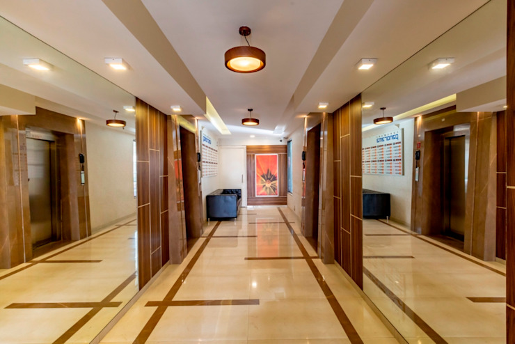 Office Interiors Olive Interiors Interior landscaping Plywood Grey