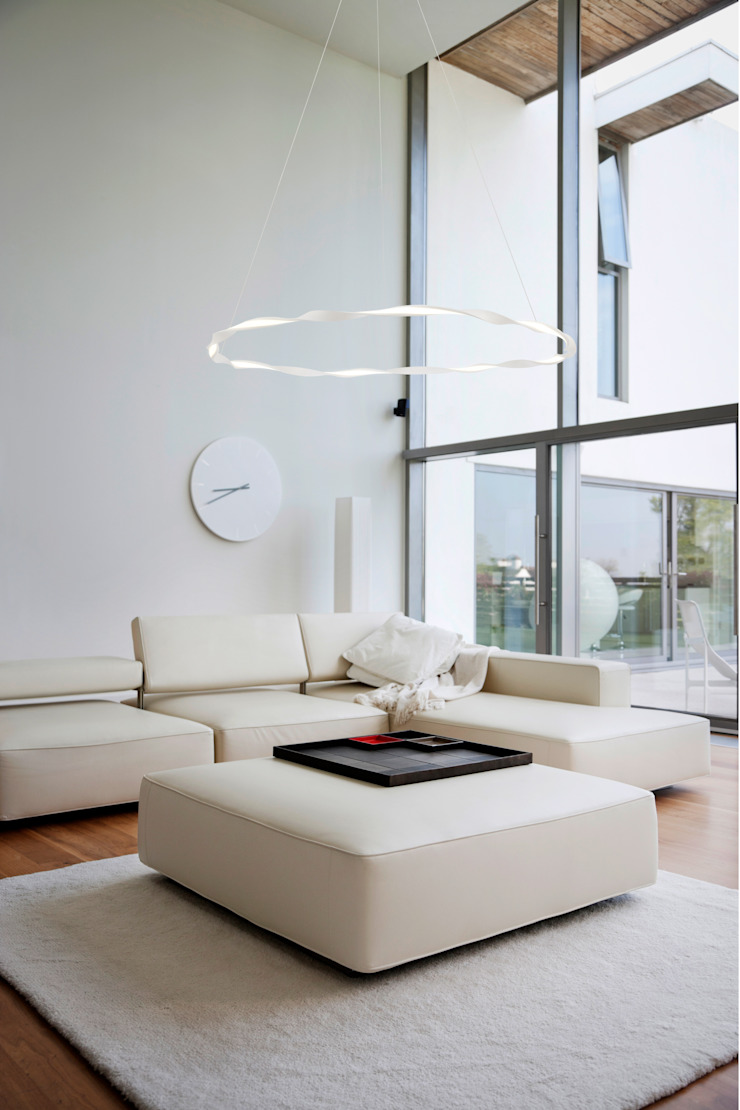 Lámpara grande MADAGASCAR 6570 46W Blanco de Mantra. de Luzopolis Moderno