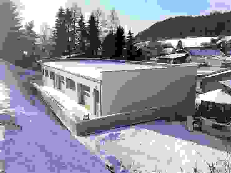 Ostfassade Minimalistische Geschäftsräume & Stores von archipur Architekten aus Wien Minimalistisch Stahlbeton