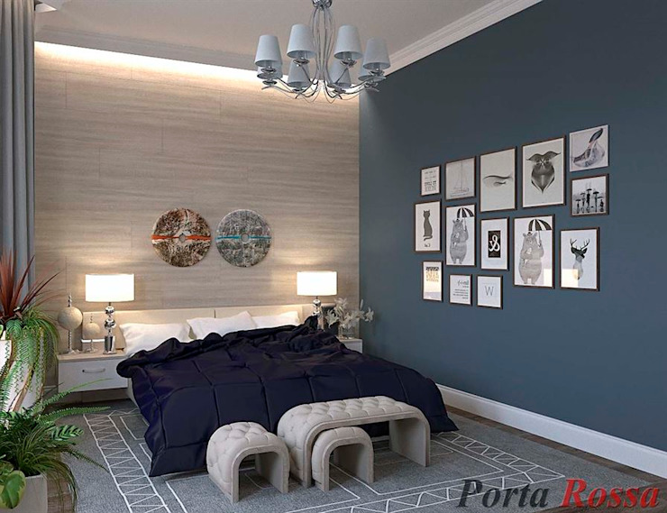 Scandinavian style bedroom by Дизайн студія 'Porta Rossa' Scandinavian