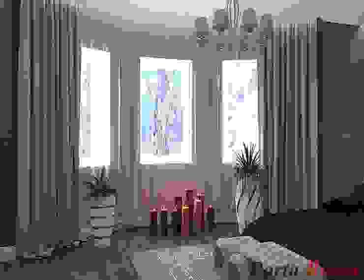 Приватный будинок в с. Забір'я:  Спальня by Дизайн студія 'Porta Rossa',