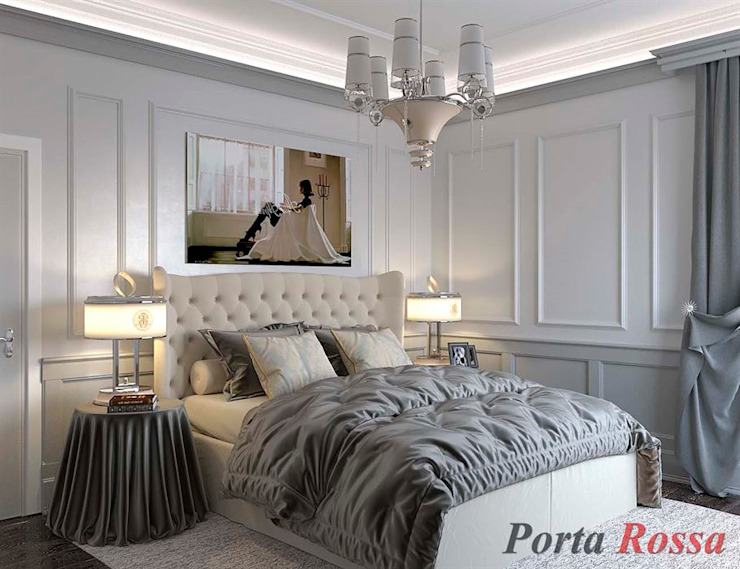 Приватный будинок в с. Кюрківщина:  Спальня вiд Дизайн студія 'Porta Rossa', Класичний